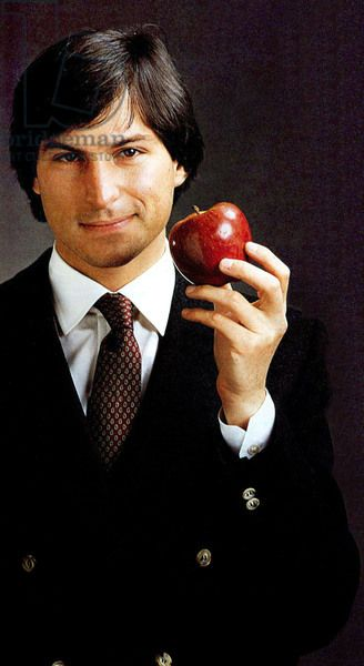 Steve Jobs, founder of Apple (created on April 4, 1976) here in 1984 at time of 1st Macintosh