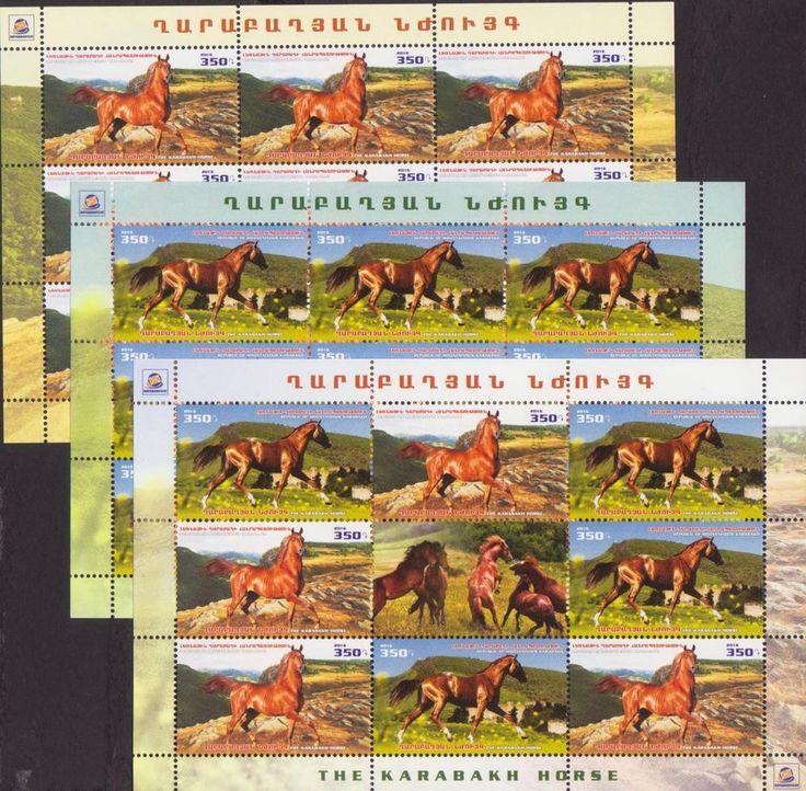 NEWS KARABAKH HORSE FAUNA 2016 NAGORNO KARABAKH ARMENIA 3 SHEETs OF 9 MNH R17711