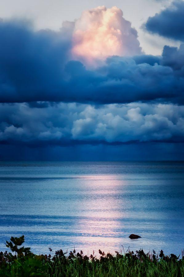 Blue Storm Clouds Rising - Georgian Bay, Owens Sound, Ontario, Canada