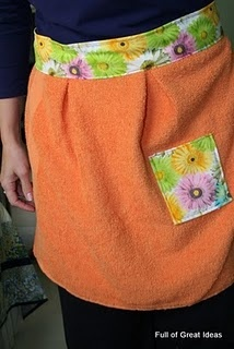 Aprons with towels genius! im so doing it...maybe a little more frilly though :)