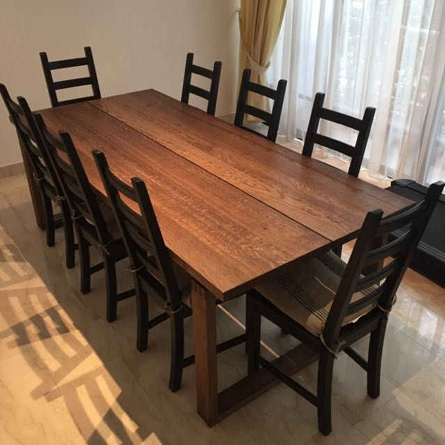 Ikea Morbylanga Dining Table W Kaustby Chairs For Sale Crazy