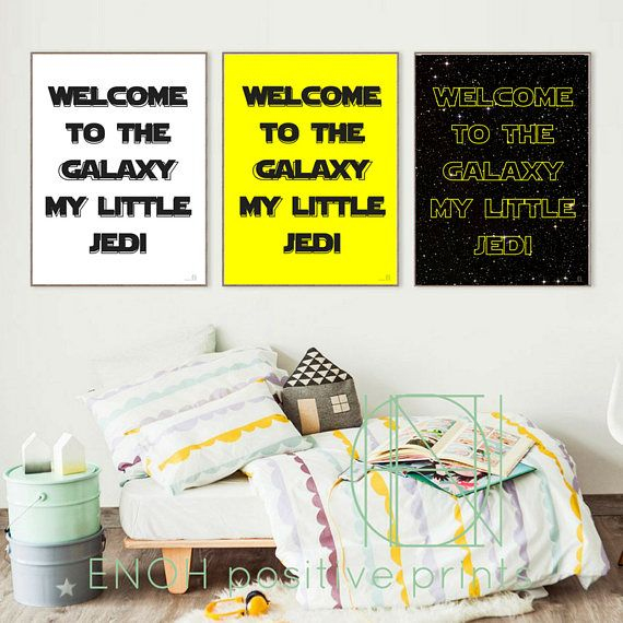 Welcome to the Galaxy - Star Wars Inspired Nursery Decor Poster - Perfect for newborn gift! This triplet poster comes into three different colour combinations to match perfectly your space! It is a great idea for a newborn gift or even a great welcoming gift for many occasions such as newcomer in school or in family! Inspiring the world with positive thinking :) This item is an INSTANT DOWNLOAD. No physical item will be sent or mailed.  With your purchase you will receive 2 triple different…