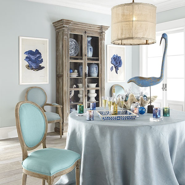 Louis XVI End Chair - French Blue | Chairs. Not the light though, that has to go.