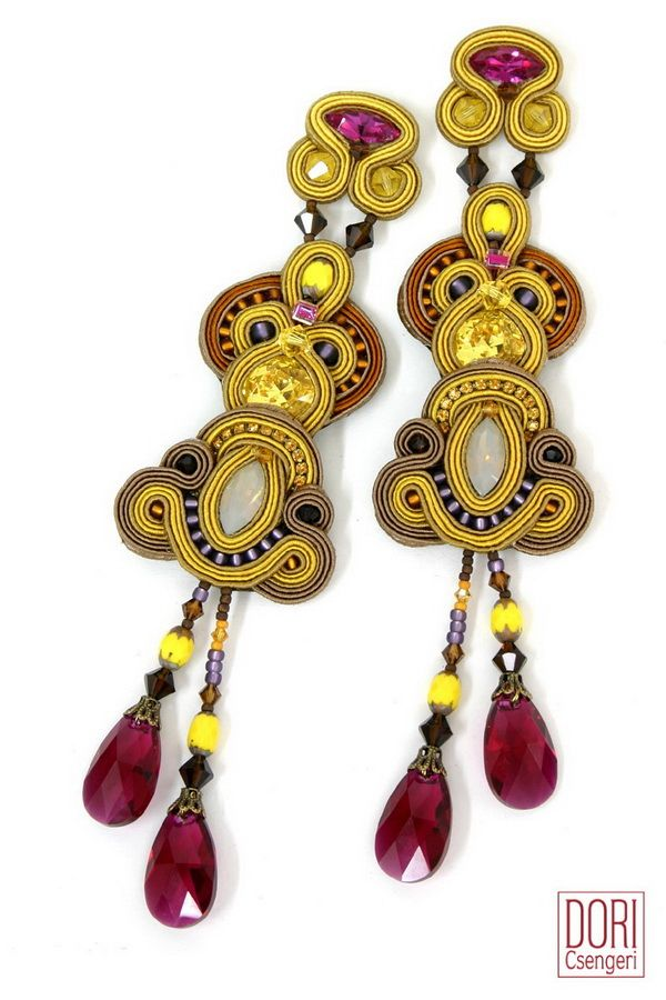 june660 , yellow earrings ,