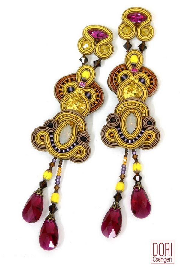 june660 , yellow earrings ,