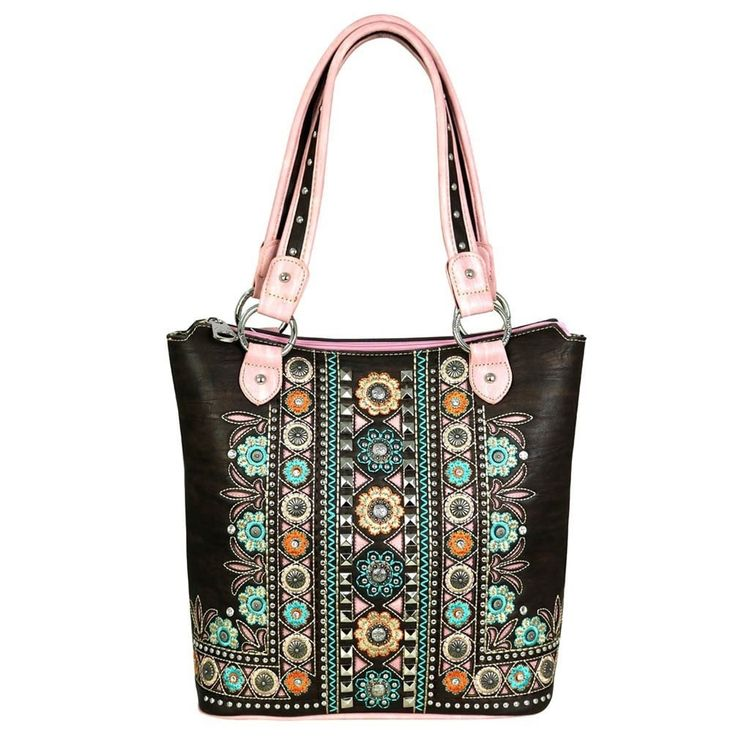Montana West Concho Collection Concealed Handgun Tote Bag