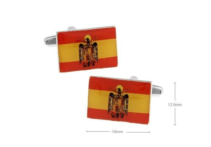 Gemelos para camisas con bandera de España