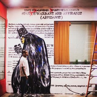 Chris Brown Paints Rihanna Mural - Search Warrant  Chris Brown painted a mural of the search warrant from his 2009 domestic violence case with Rihanna. Brown posted a picture of the mural on Instagram explaining that it was his first search warrant from 9 years ago. Brown painted Batman over the search warrant. Rihanna might need to pull a Karrueche and get a restraining order against Brown.  Last year Karrueche Tran was granted a 5 year restraining order after she convinced a judge that…