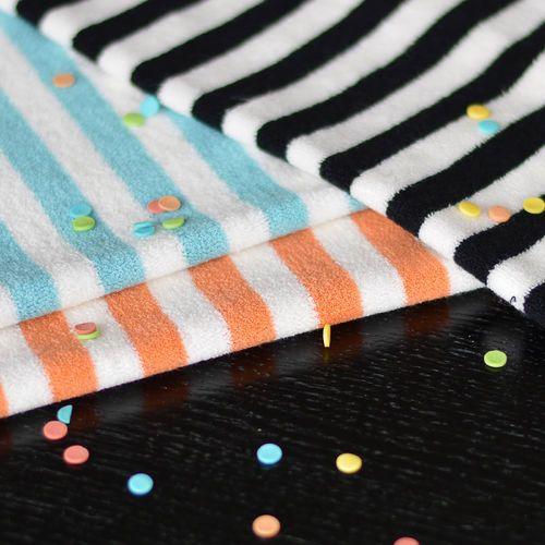 Stripe Terry, Black/ Vanilla | NOSH Fabrics Spring & Summer 2016 Collection - Shop at en.nosh.fi | Kevään 2016 malliston kankaat saatavilla nyt nosh.fi