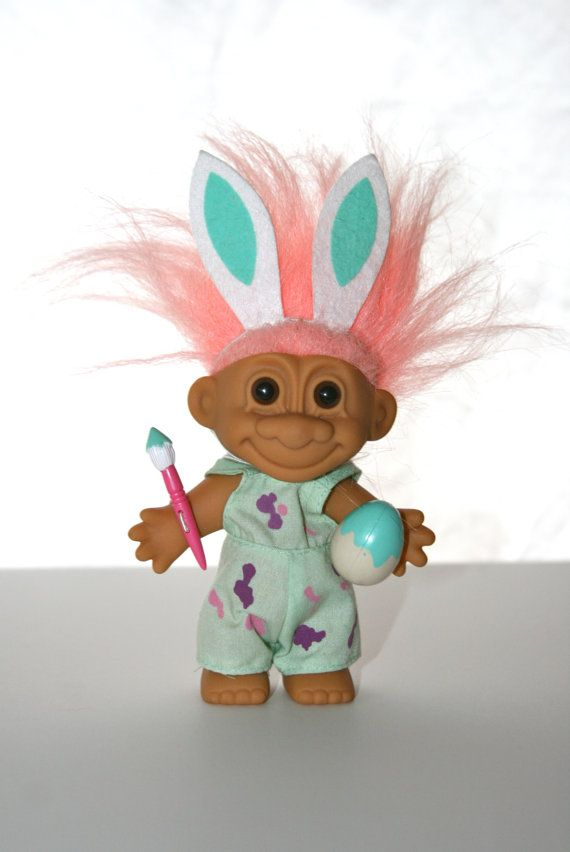Vintage Easter Troll Doll by Russ All Original Nice by StudioSisu
