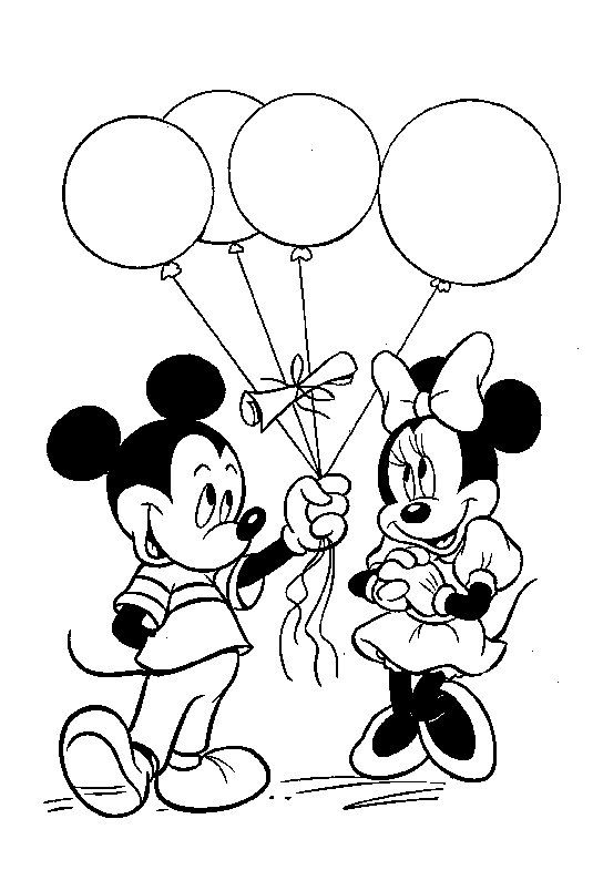 Minnie Y Mickey Para Colorear Imagui Dibujos Colorear Mickey