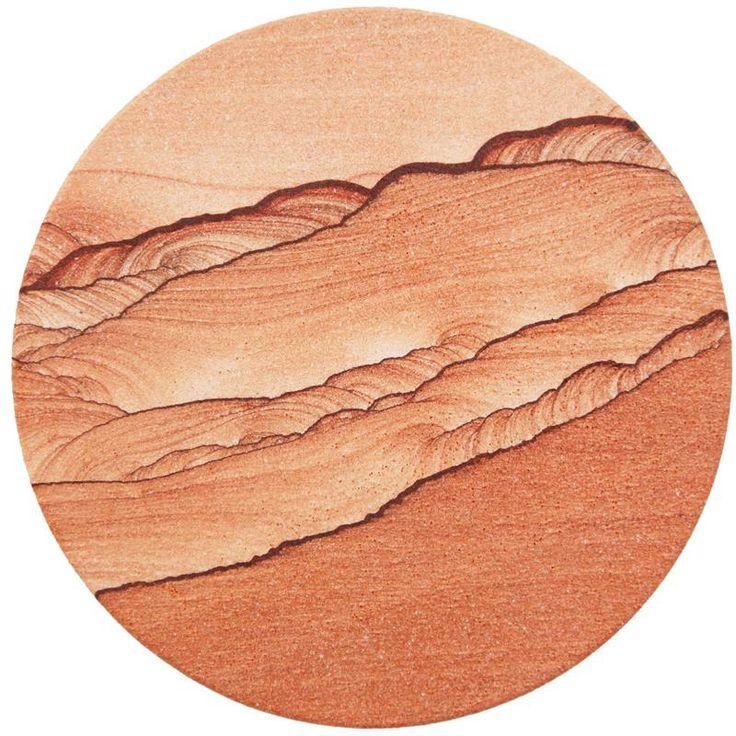 ARIZONA themed wedding favor: Natural Sandstone Coaster - Round