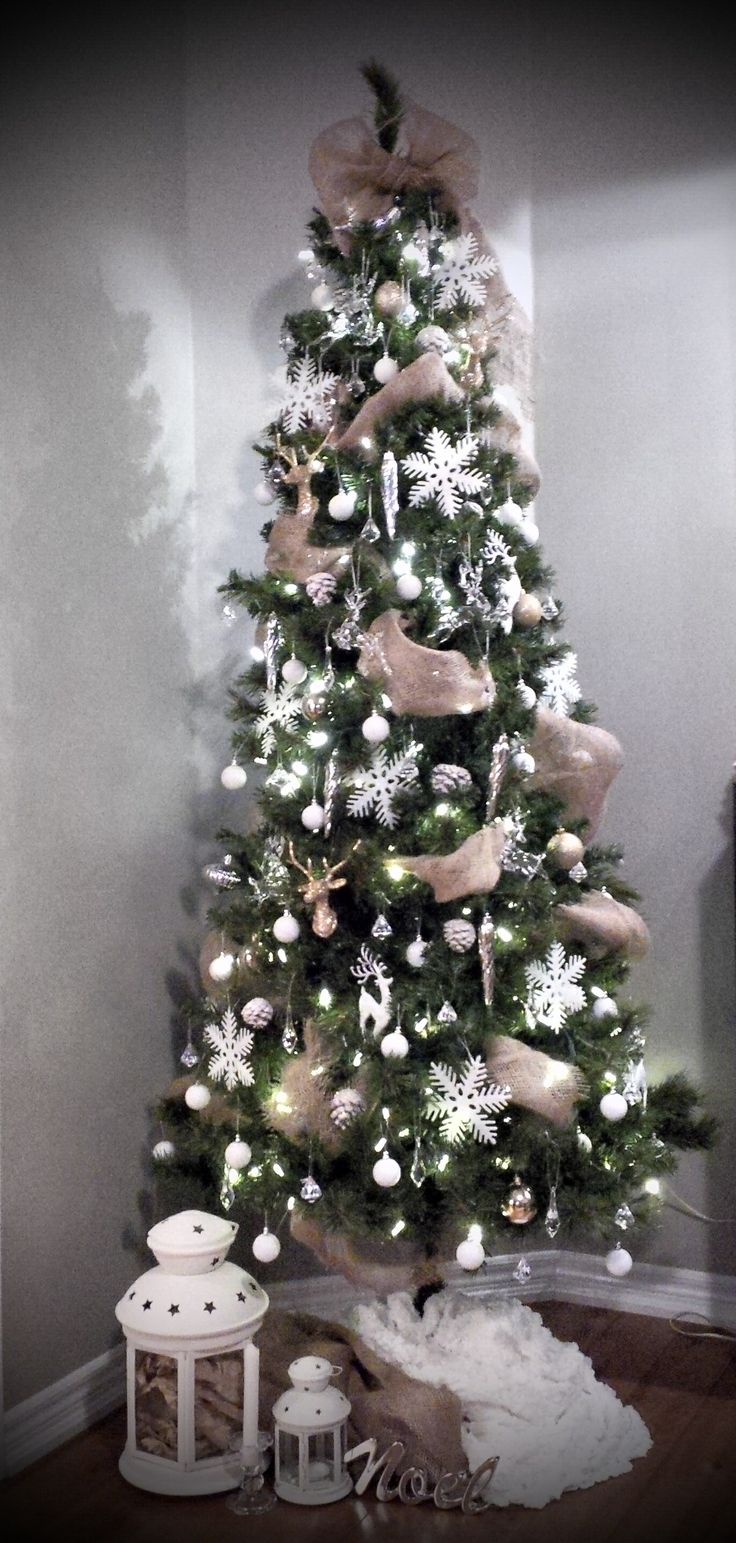 White, Crystal, Gold & Burlap Christmas Tree!!!!