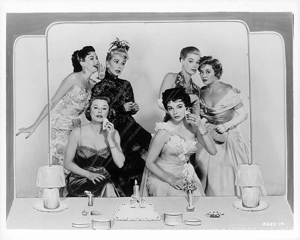Ann Miller June Allyson Dolores Gray Joan Collins Ann Sheridan and Joan Blondell publicity portrait for the film 'The Opposite Sex' 1956
