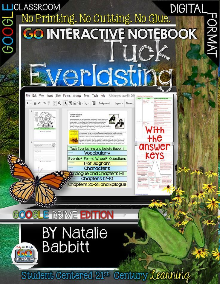Tuck Everlasting Digital Go Interactive Notebook Google Edition ($)