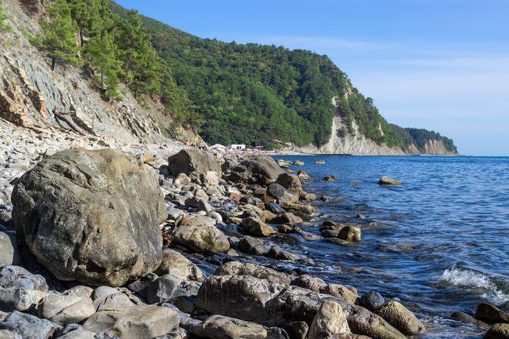 Coast - Coast of the Black Sea, Russia.