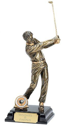 "From 17.99:7.75"" Stature Male Golf Trophy With Free Engraving Up To 30 Letters A342a"