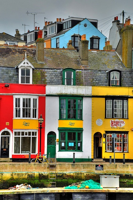Harbourside houses at Trinity Road, Weymouth