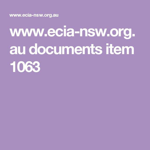 www.ecia-nsw.org.au documents item 1063