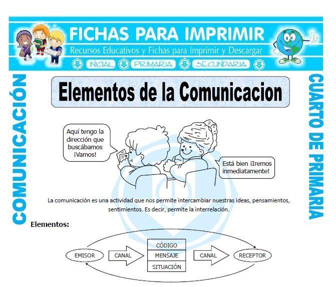 Elementos De La Comunicacion Para Cuarto De Primaria Fichas Gratis Elementos De La Comunicacion Actividades De Comunicación Problemas Matemáticos