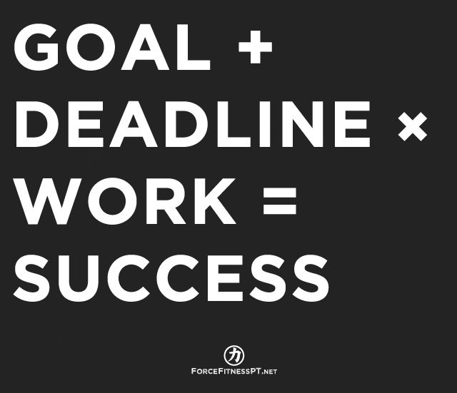 Goal, Deadline, Work, Hard work, Success, Dedication, Progress, Plan, Fitness, Motivation, Obstacles, Personal Training,