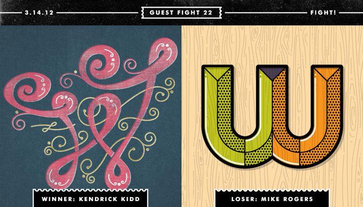 /// Battle of the W's ///  typefight.com #typography #design #type