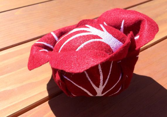 Red Cabbage Felt Cabbage Handcrafted Toy Pretend by LittleFruits