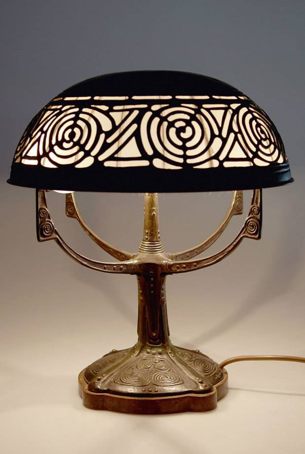 612 best art deco nuveou stained glass lamps lighting art nouveau bronze and copper table lamp c1905 by gustav gurschner for aloadofball Gallery