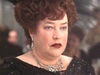 Kathy Bates as Denver legend Molly Brown in James Cameron's Titanic