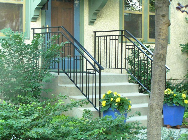 Best O Brien Ornamental Iron Gallery Of Exterior Step Rails 400 x 300