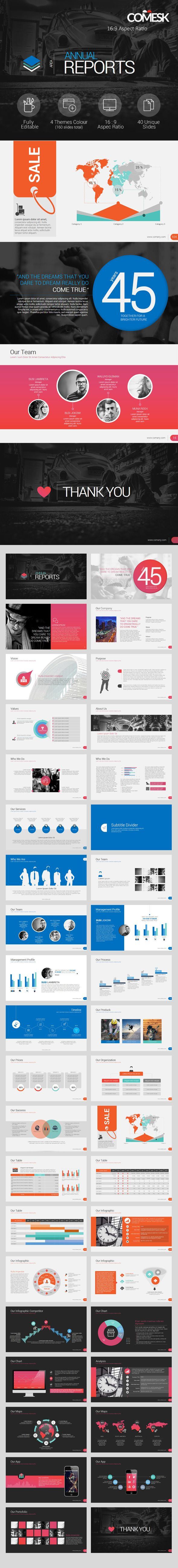 Annual Report Template #powerpoint #powerpointtemplate #presentation Download: http://graphicriver.net/item/annual-report/9703641?ref=ksioks