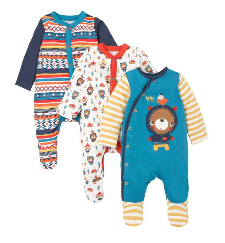 Bear Sleepsuits - 3 Pack These look snuggly.