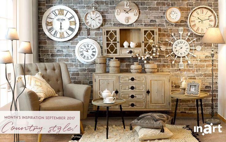 Month's inspiration September 2017 - Country Style Η έμπνευση του μήνα: στυλ Country το οποίο δένει αρμονικά ξύλο και μέταλλο.