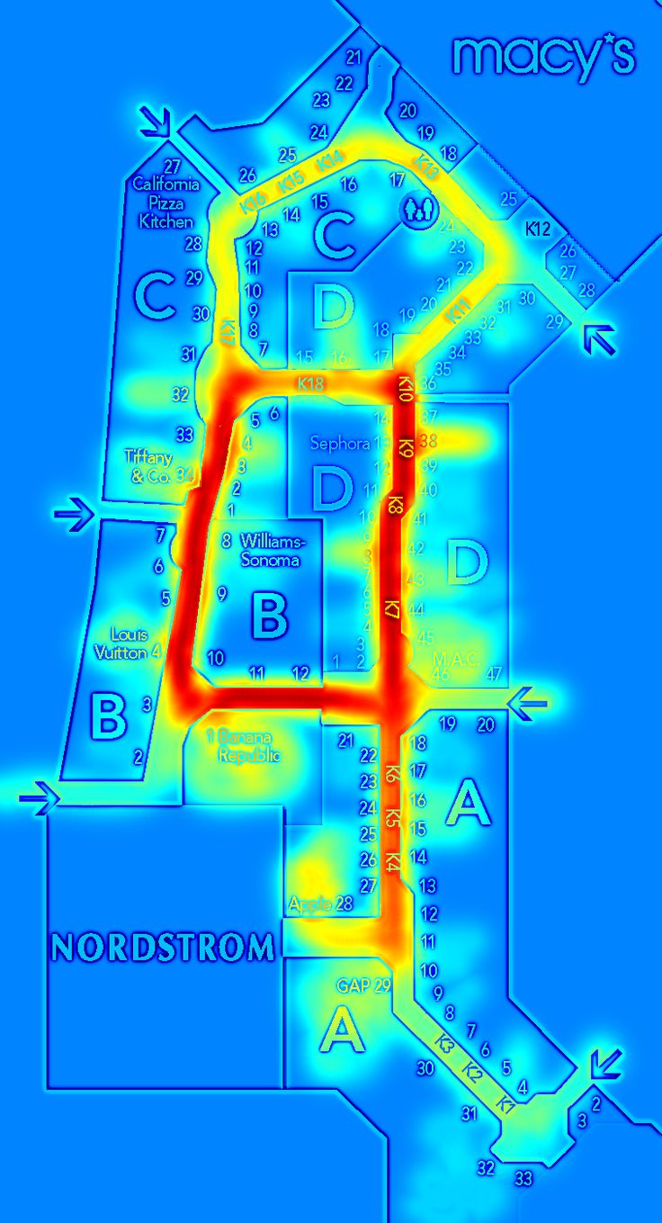 Indoor Navigation is perfect also for Retail Environments. Heat-maps can show most popular paths taken and how long average visit was to specific area.