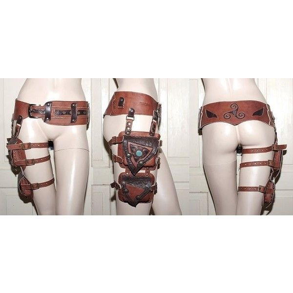 Pix For > Steampunk Utility Belt via Polyvore featuring accessories, belts and steampunk belt