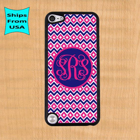 Monogram iPod 5 Case, Monogram iPod Cover, Monogram iTouch 5 Cases, Cute iPod touch 5th generation Case on Etsy, $14.99