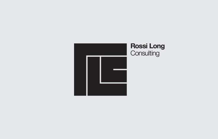 Rossi Long Consulting logo designed by The Click encompassing the nature of civil engineering.