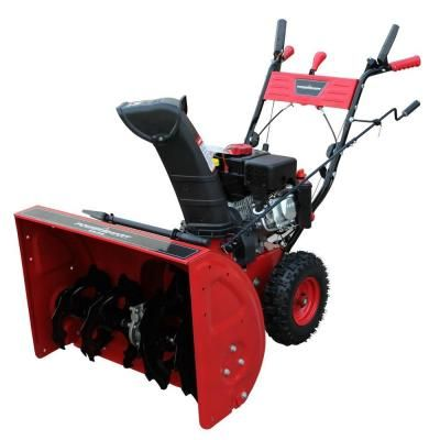 PowerSmart 24 in. 208 cc Two-Stage Gas Snow Blower-DB7651 at The Home Depot