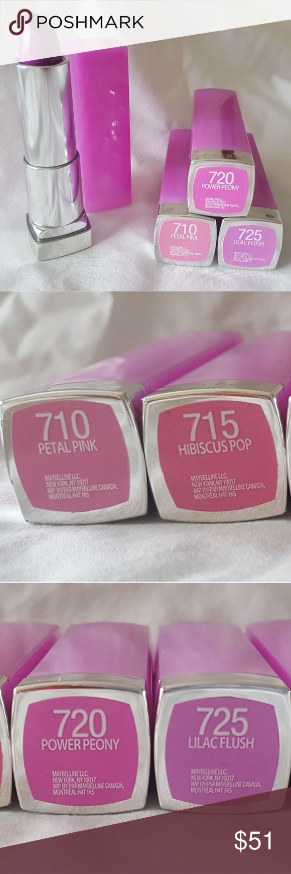Maybelline New Nouveau Lipstick Maybelline New Nouveau Lipstick  Only $3 each from a regular price of $6.49 Different shades available:  710, 715, 720, 725, 730, 745 Maybelline Makeup Lipstick