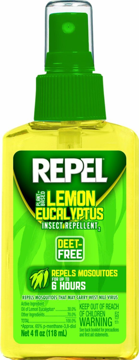 Great Lemon Eucalyptus Insect Repellent. Repels Mosquitoes And Deer Ticks.  Deet Free. Contains