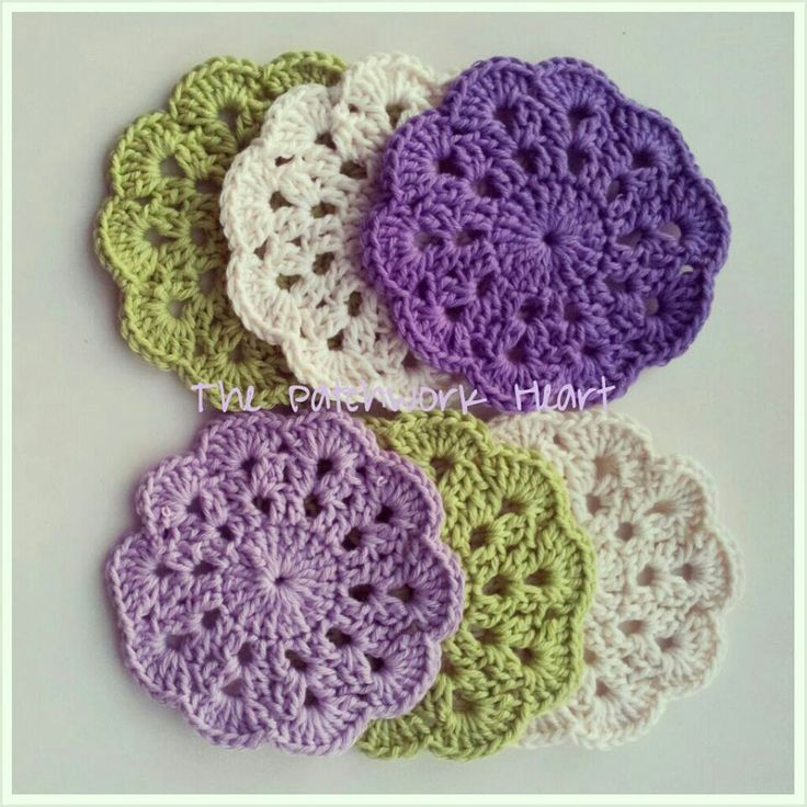 Free Crochet Fish Coaster Pattern : Crochet coasters COLORFUL CROCHET Pinterest