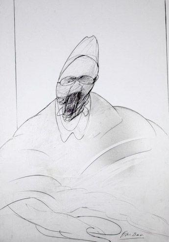 Francis Bacon drawing