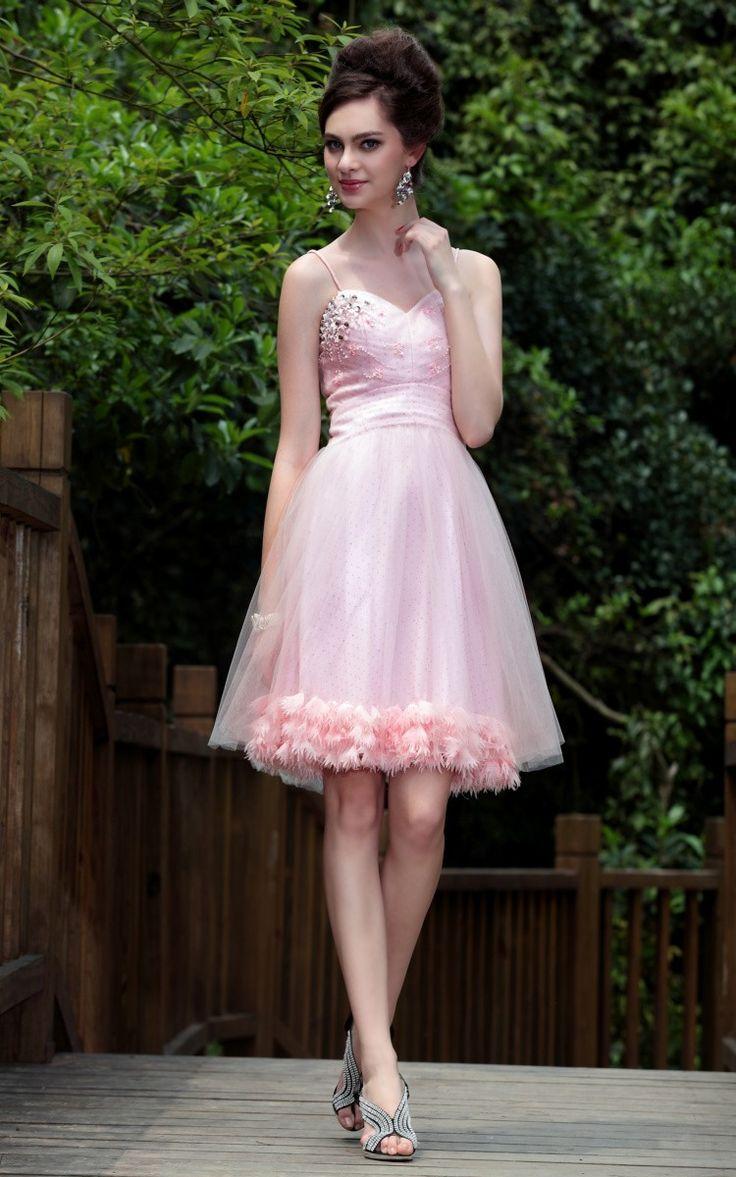 Bretelles fines sexy des robes de bal courte - Robe de bal sexy - Robe de bal
