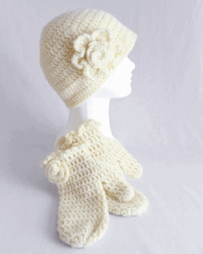 Crochet Mitten Patterns For Beginners : 17 Best images about Crochet Hat & Scarf Sets on Pinterest ...
