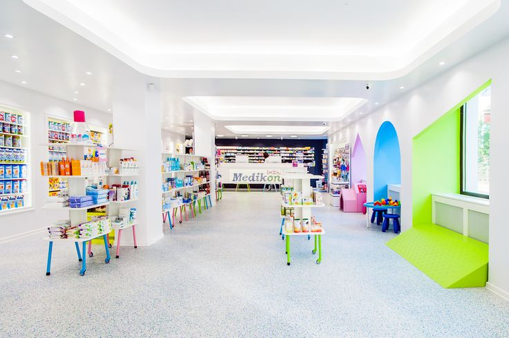Project: Baby Pharmacy | Client: Medikon | Design: MIOLK | Furniture: Mobiera