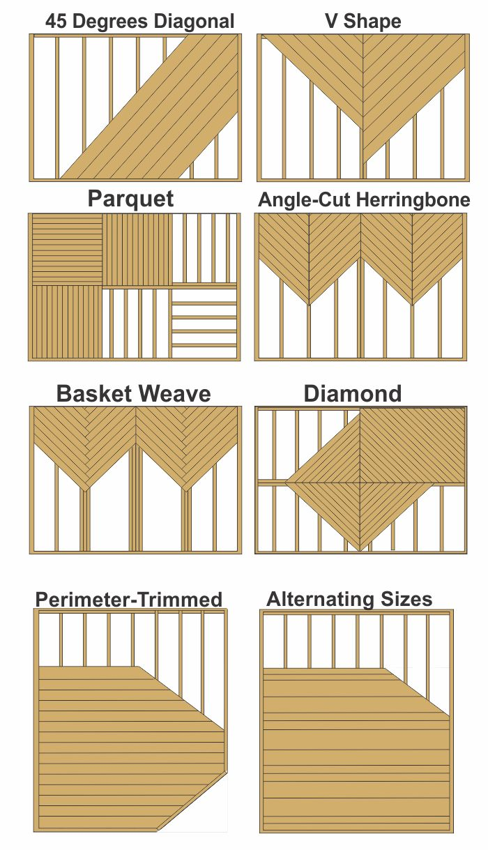 decking patterns contractor in ma - Wood Deck Design Ideas