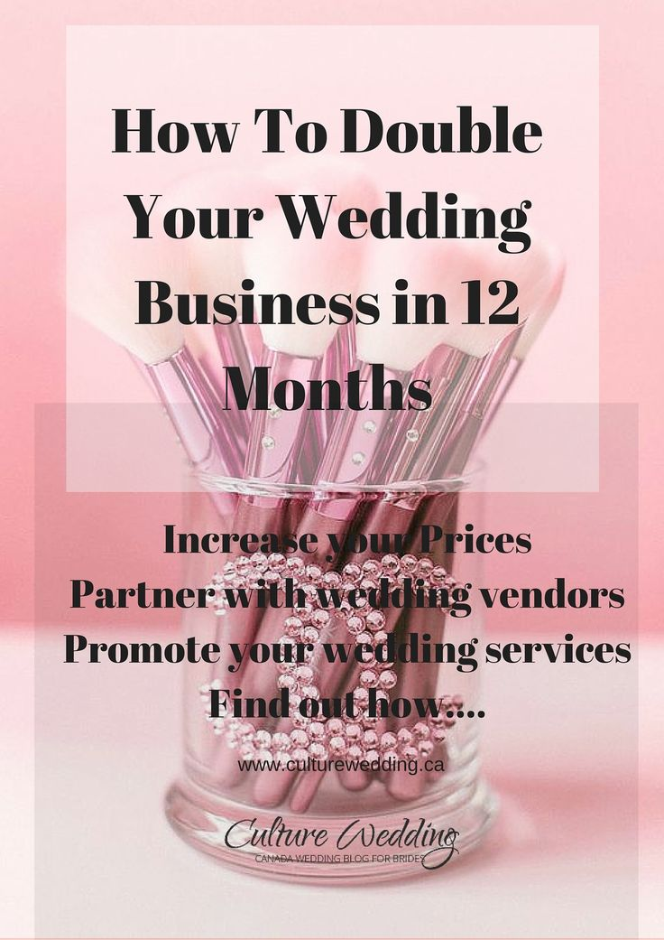 How To Double Your Wedding Business in 12 Months - Grow and increase your wedding sales with our step by step guide. How to be a wedding planner