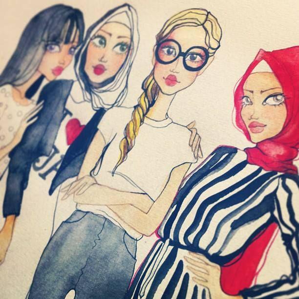 Fashionistas. #hijab