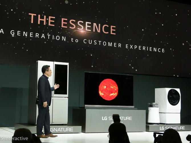 "LG introduces the LG Signature range, a series of super-premium products that ""maintain their essence."" Oh, and a bunch of new OLED 4K HDR TVs as well."