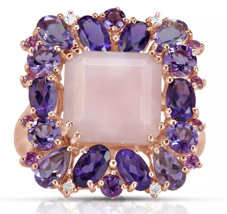 Marco Moore ring with amethyst, rose quartz and diamonds